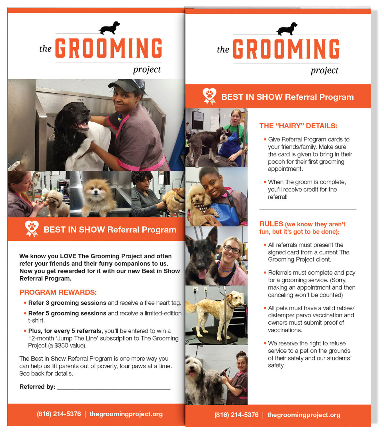 Grooming Project Rack Cards