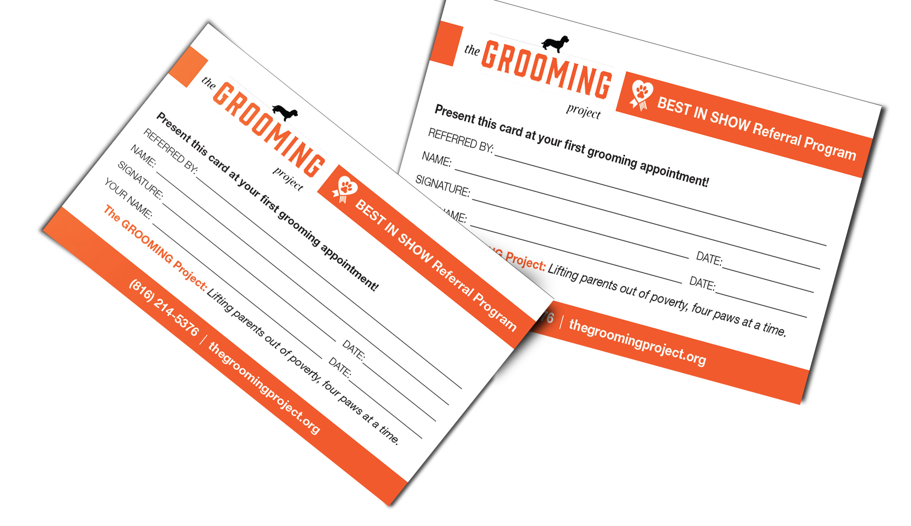 Grooming Project Referral Card